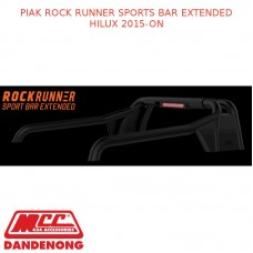 PIAK ROCK RUNNER SPORTS BAR FITS EXTENDED HILUX 2015-ON